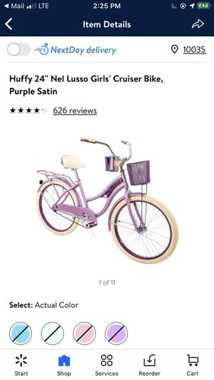 "Huffy 24"" Nel Lusso Girls' Cruiser Bike, Purple Satin for Sale in Queens, NY"
