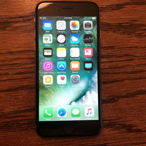 iPhone 6 Carrier Unlocked 16GB Black/Gray iCloud Clear Clean IMEI for Sale in Fresno, CA