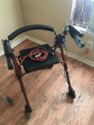 Red Rollator with back support for Sale in Dallas, TX