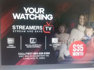 Streamers TV!!! 1100 live TV channels for Sale in Lakeland, FL