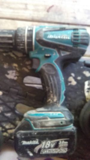 Makita 18-Volt LXT Lithium-Ion 1/2 in. Brushless Cordless Hammer Driver-Drill (No charger drill & battery only) for Sale in Stonecrest, GA