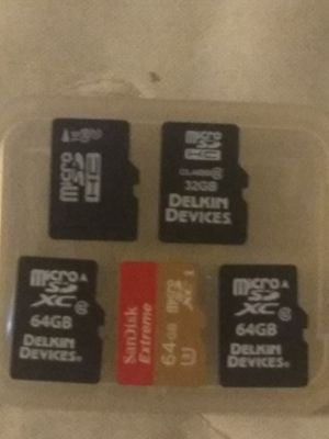 1-16g, 1-32g, 3-64g ,memory cards for Sale in Phoenix, AZ