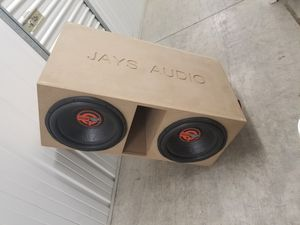 """2 -15"""" subs in custom box for Sale in Houston, TX"""