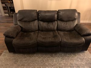 Brushed leather sofa and loveseat. for Sale in Queen Creek, AZ
