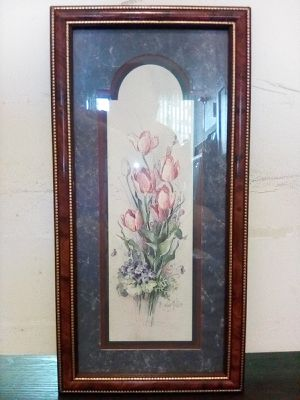 Floral Print Wall Art by Barbara Mock in Frame for Sale for Sale in San Jose, CA