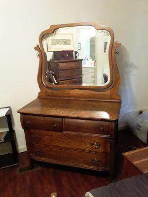 Antique Dresser and Vanity Mirror for Sale in Garner, NC