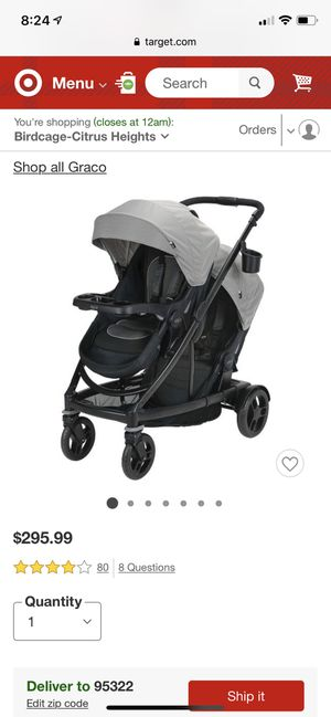 Graco uno2duo double stroller like new for Sale in Sunnyvale, CA