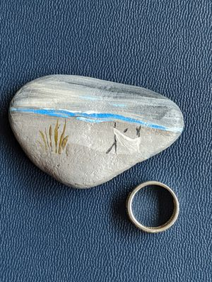 By the beach stone art : Breathe by the beach for Sale in Junction City, OR