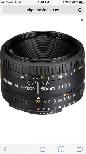 Nikon 50mm/1.8D Lens for Sale in Portland, OR
