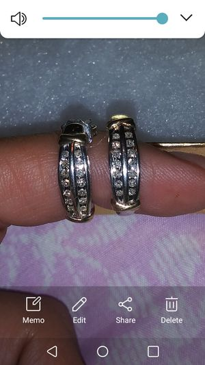 Half carat diamond earrings in white gold and yes they are real for Sale in Modesto, CA