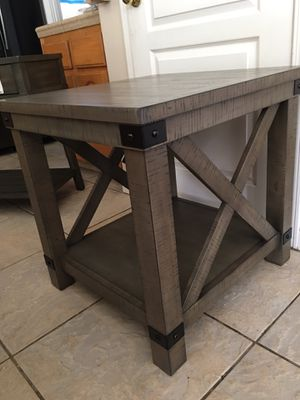 Signature Design by Ashley - Aldwin Rectangular End Table, Pine Wood for Sale in Bakersfield, CA
