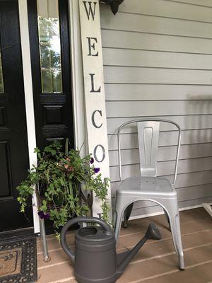 Walker Edison Home Depot metal farm dining kitchen desk and side chair. HOT item!!! for Sale in Sharpsburg, GA