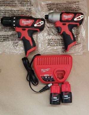 Milwaukee M12 Lithium-Ion Cordless Drill Driver impact Driver Kit for Sale in Greenville, SC