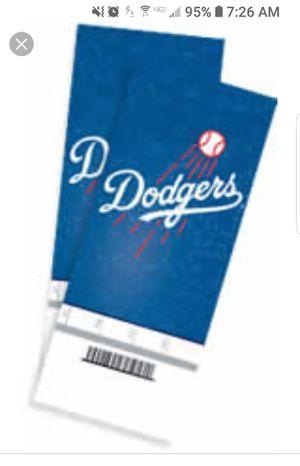 2 Dodgers vs Diamondbacks tickets for Sale in Lompoc, CA