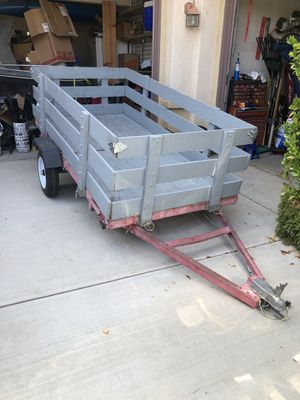 4x8' Foldable Utility Trailer with Removable Sides for Sale in Wildomar, CA