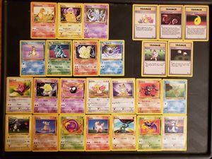 Pokemon Basic Set Cards RARE Cards Included 175 OBO for Sale in Herndon, VA