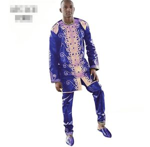 AFRICAN MEN SUIT BAIZN RICHE EMBROIDERY DRESS FOR MEN TOP WITH PANTS TOGETHER for Sale in Silver Spring, MD