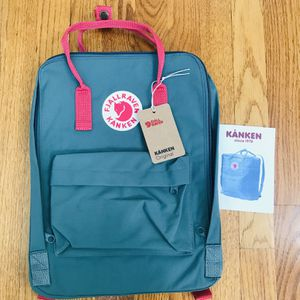 Green Pink Fjallraven Backpack Medium Size for Sale in Matthews, NC