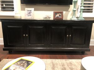 Espresso entertainment stand. Solid wood for Sale in Manhattan Beach, CA