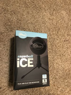Blue Snowball black ice USB microphone for Sale in Rochester, MN
