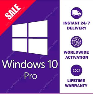 WINDOWS 10 PROFESSIONAL PRO KEY 32/64 BIT ACTIVATION LICENSE PRODUCT KEY for Sale in New York, NY