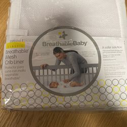 Breathable Mesh Crib Liner- New for Sale in San Antonio,  TX