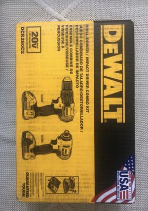 DeWalt 20-Volt MAX XR Lithium-Ion Cordless Brushless Drill/Impact Combo Kit with 2 Batteries 2Ah, Charger and Bag for Sale in Silver Spring, MD