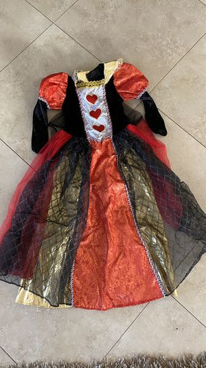 QUEEN OF HEARTS COSTUME 7/8 for Sale in San Diego, CA
