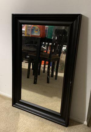 Large wall mirror - espresso wood for Sale in Plantation, FL