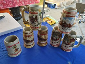 Beer mugs. Budweiser. In excellent condition for Sale in Alhambra, CA