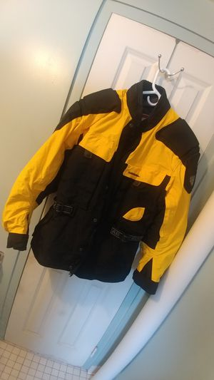 Firstgear .. motorcycle padded jacket yellow black for Sale in Boston, MA