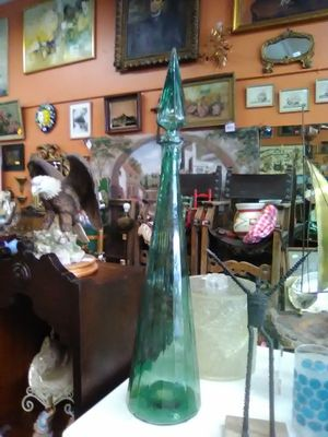 Vintage antique genie bottle tall decanter art class for Sale in Spring Valley, CA