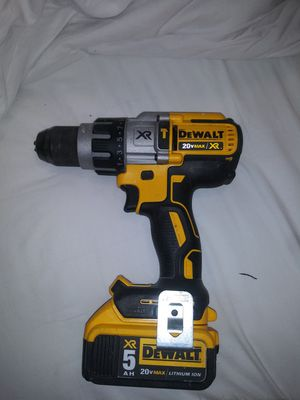 DeWalt 20V XR Brushless Hammer Drill with 20V XR 5.0 Battery for Sale in Sacramento, CA