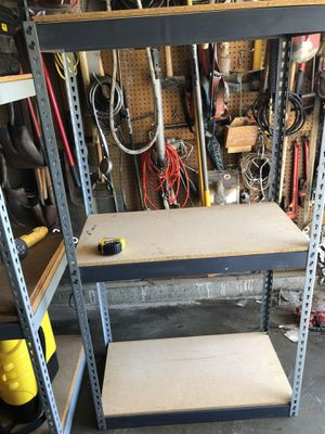 Heavy duty metal storage shelves $70 for Sale in Chino, CA