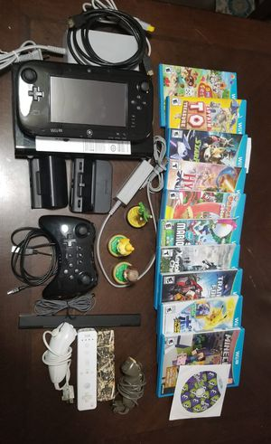 Nintendo Wii u with everything for Sale in New Bedford, MA