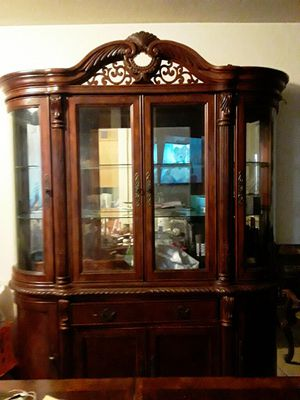 Antique china cabinet very heavy and sturdy asking $700 obo for Sale in Reedley, CA