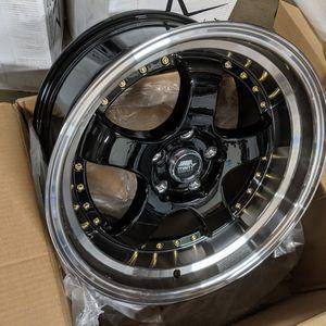 17x9 MST Wheels 5x114.3 Black for Sale in Laurel, MD