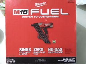 Milwaukee Finish Nailer Tool Only for Sale in Miami, FL