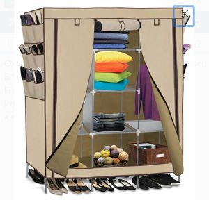 Wardrobe Closet Storage Shelves Organizer with Fabric Cover--Beige for Sale in Ontario, CA