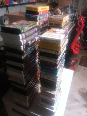 140 vhs movies & two holder cases for Sale in Midwest City, OK