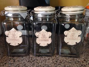 Glass canisters storage containers for Sale in Cudahy, CA