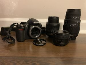 Nikon D3100 and lenses for Sale in Bethel Park, PA