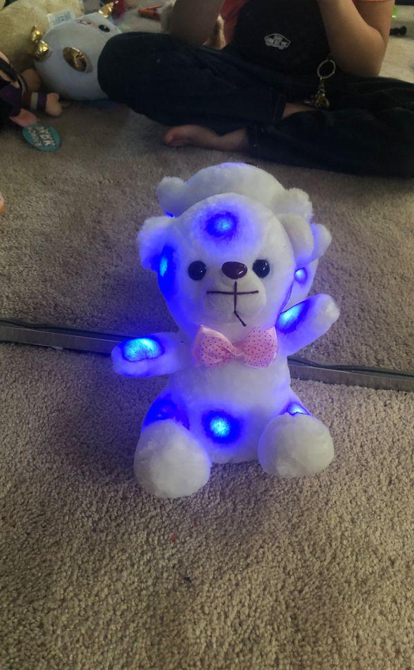 Light up stuffed bear