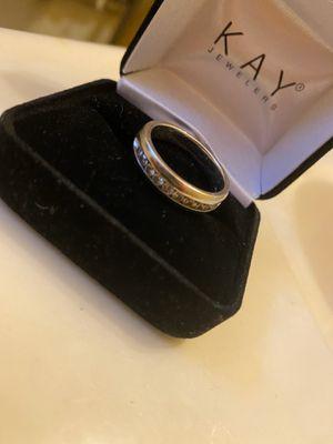 MEN'S WEDDING RING SZ 8, 10 Stud Diamond Ring for Sale in Fort Washington, MD