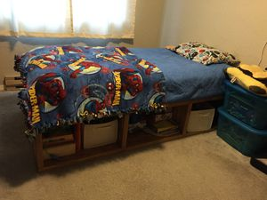 Oak twin bed frame for Sale in Olympia, WA