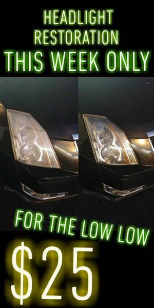 HEAD LIGHT RESTORATION $25 SPECIAL for Sale in Rancho Cucamonga, CA