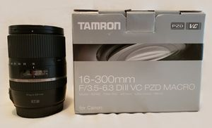 Lens - Tamron 16-300mm for Canon for Sale in North Riverside, IL