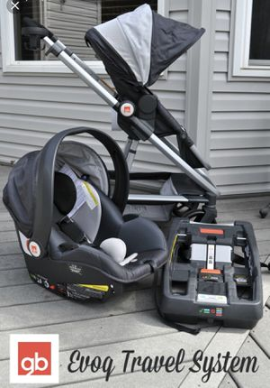 stroller and 2 car seats (gb evoq) for Sale in Jacksonville, NC