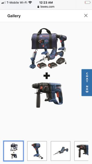Bosch 5-Tool 18-Volt Power Tool Combo Kit with Soft Case (Charger Included and 2-Batteries Included for Sale in Sacramento, CA