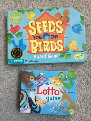 Preschool Board Games - Lotto (Memory) & Seeds for the Birds for Sale in Chapel Hill, NC